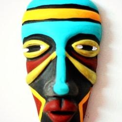 Small Pottery Terracotta Mask Pottery & Glass